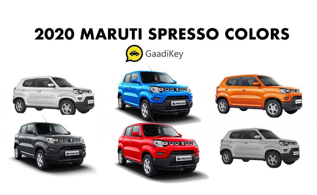 Maruti SPresso 2020 model colors - All Colors Maruti SPresso - Maruti Suzuki SPresso 2020 Colours