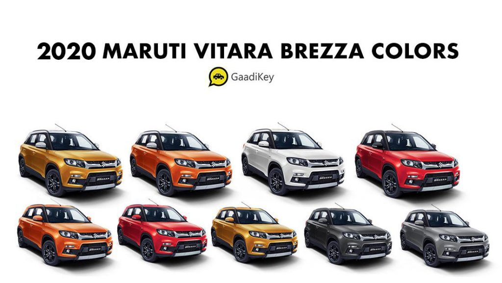 2020 Maruti Vitara Brezza Colors - 2020 Model Vitara Brezza colors - Brezza 2020 Model all colors bs6