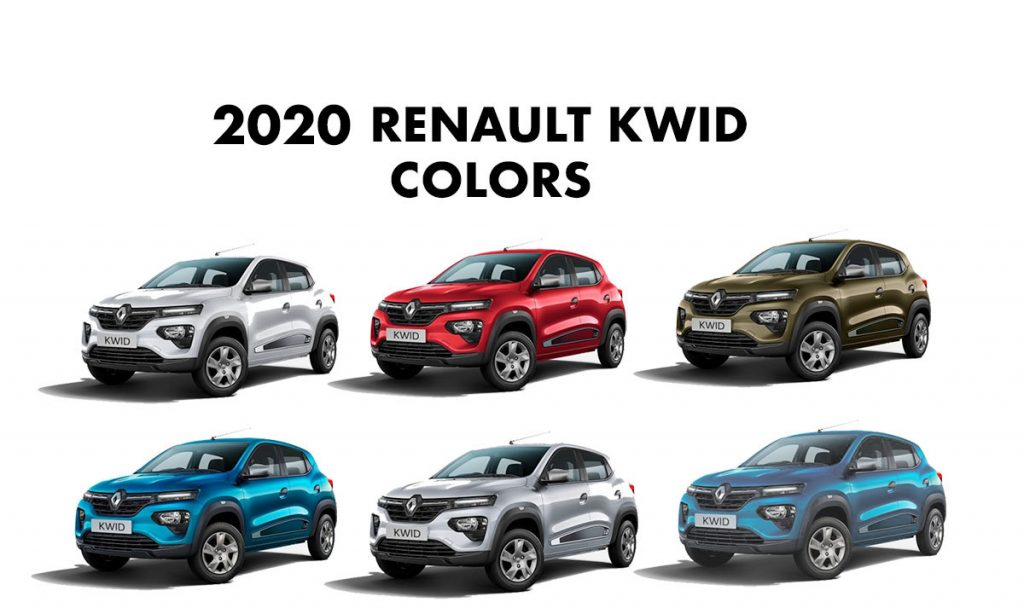 2020 Renault Kwid Colors Blue Red White Bronze Silver Gaadikey