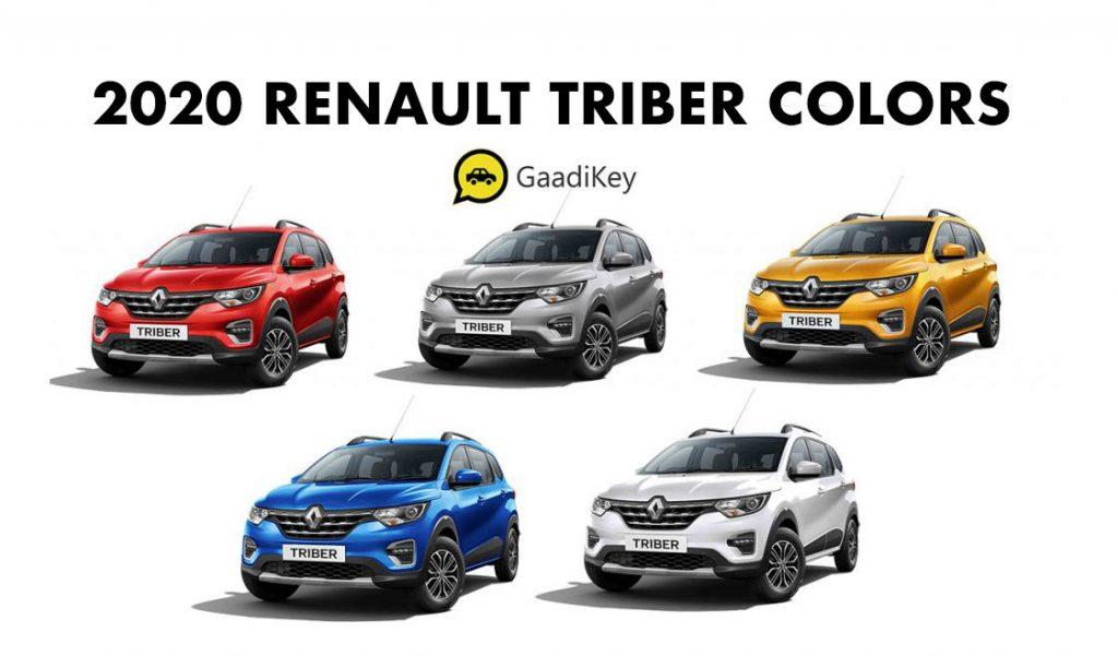 2020 Renault Triber Colors - Renault Triber 2020 model color options -