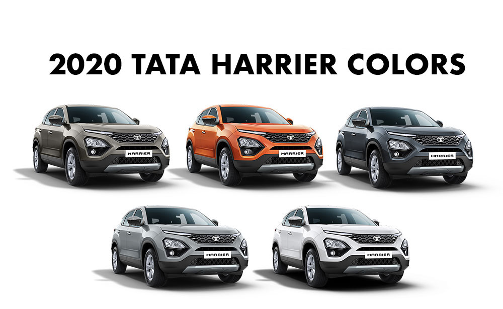 2020 Harrier Colors - Tata Harrier all colors - New 2020 model Tata Harrier colours, 2020 Harrier color variants, 2020 Tata Harrier Colors, 2020 Harrier Colours,