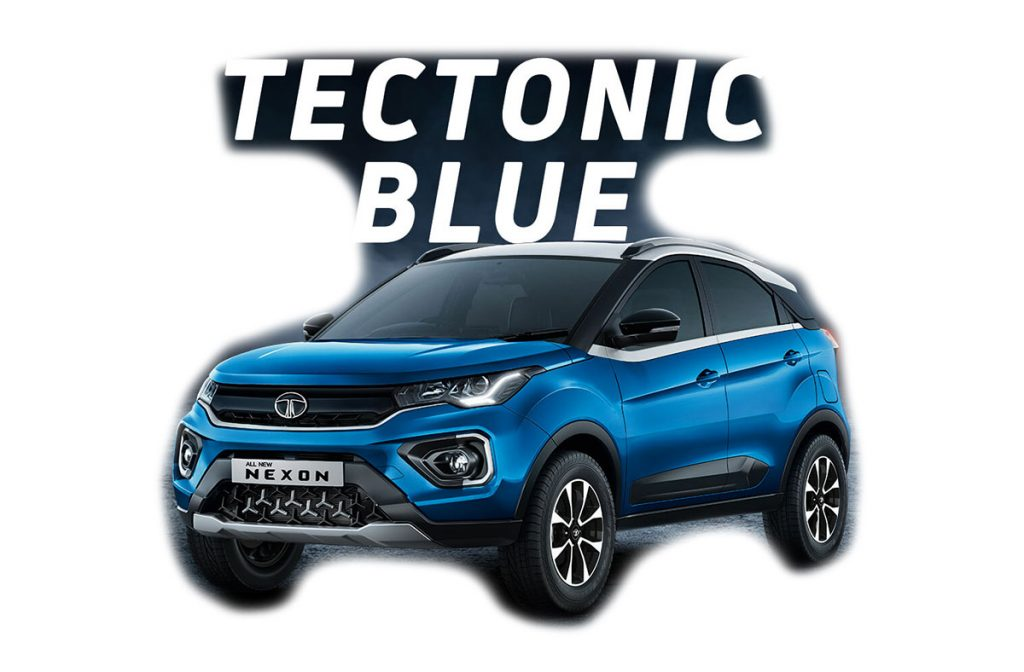 2020 Tata Nexon Blue Color - 2020 Tata Nexon Tectonic Blue color variant 2020 Nexon Blue
