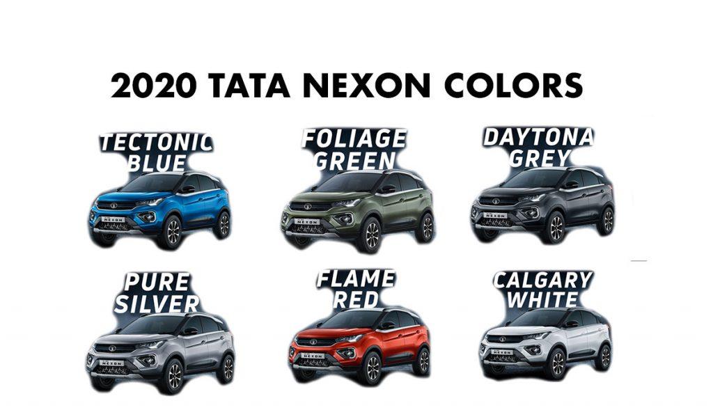 2020 Tata Nexon Colors - Nexon New Colors All - New 2020 Nexon Colors