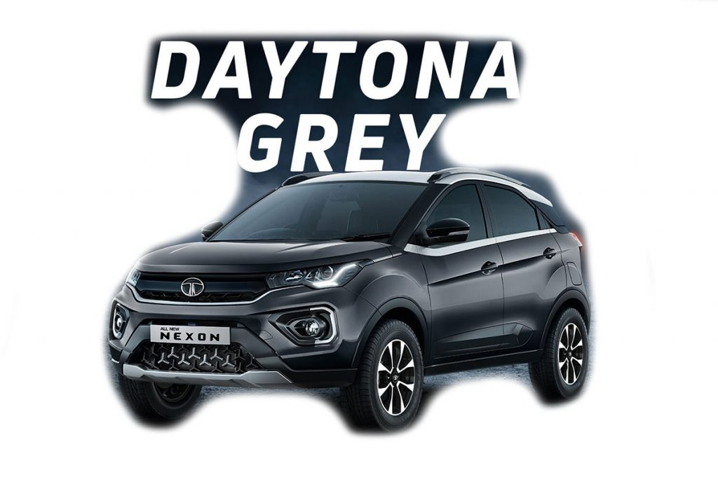 2020 Tata Nexon Grey Color - 2020 Nexon Daytona Grey color variant