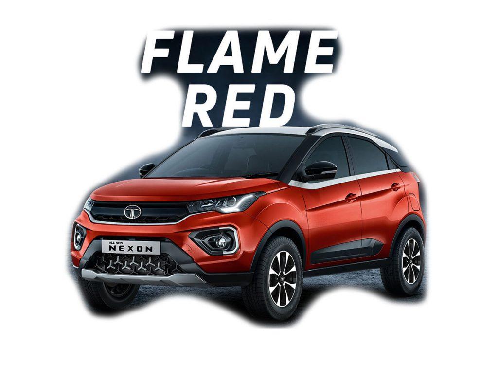 2020 Tata Nexon Flame Red Color - 2020 Tata Nexon Red Color Option