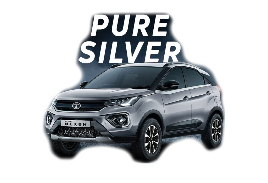 Tata Nexon Silver Color - 2020 Tata Nexon Pure Silver Color variant New 2020 Nexon
