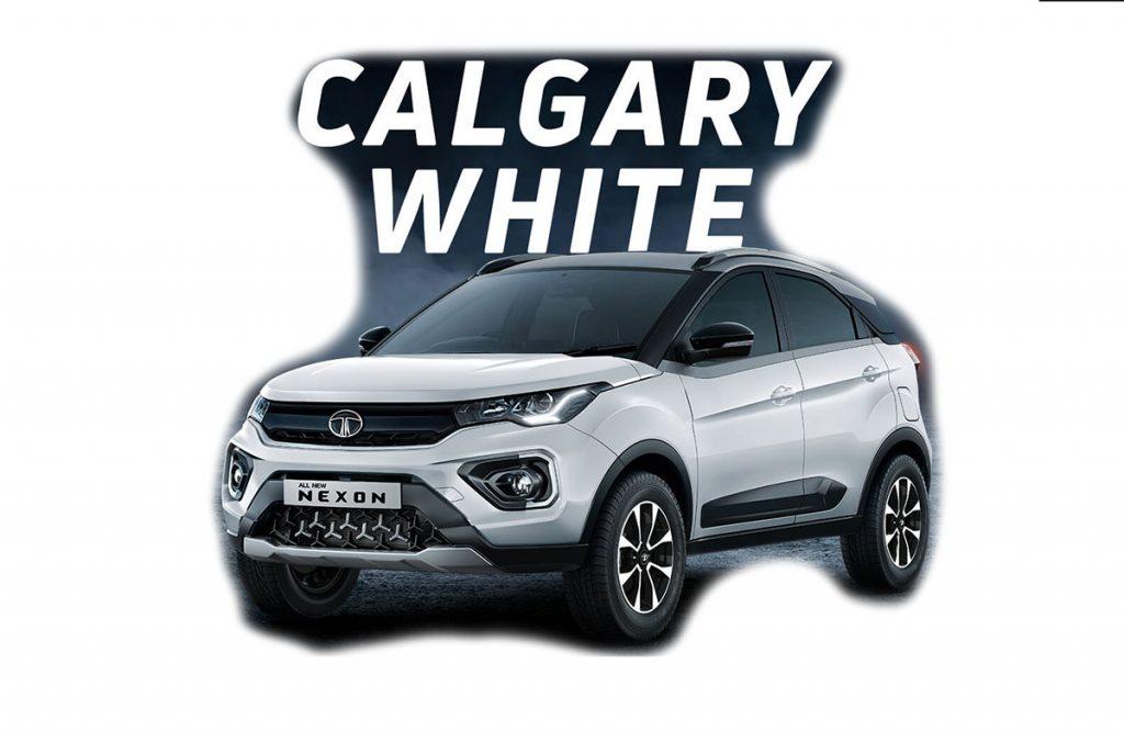 2020 Tata Nexon White Color - New Nexon 2020 Calgary White Color option