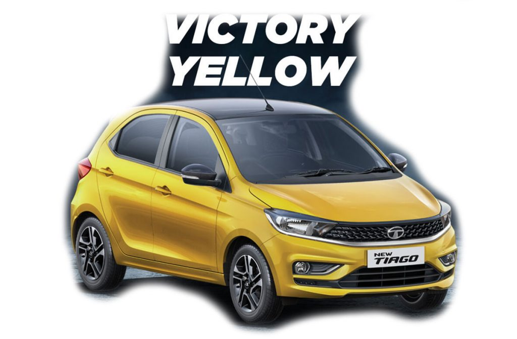 2020 Tata Tiago Yellow Color - 2020 Tiago Victory Yellow Color option