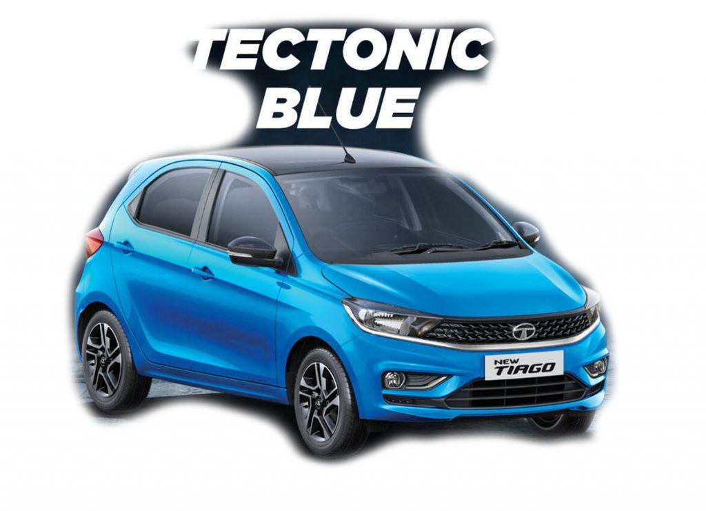 2020 Tata Tiago Blue Color - 2020 Tiago Tectonic Blue Color