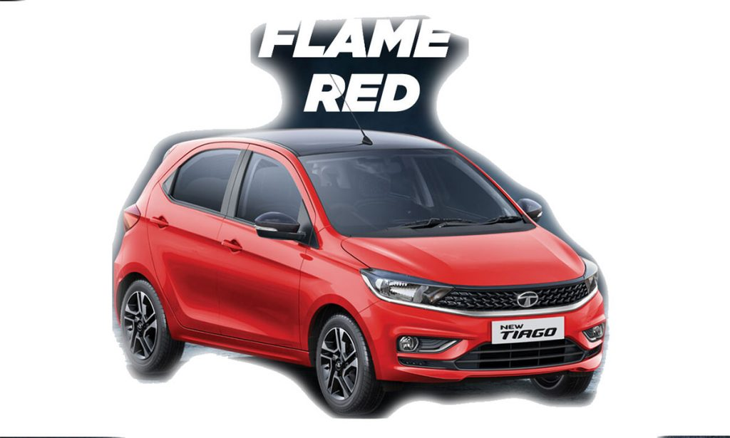 2020 Tata Tiago Red Color - 2020 Tata Tiago Flame Red Color option