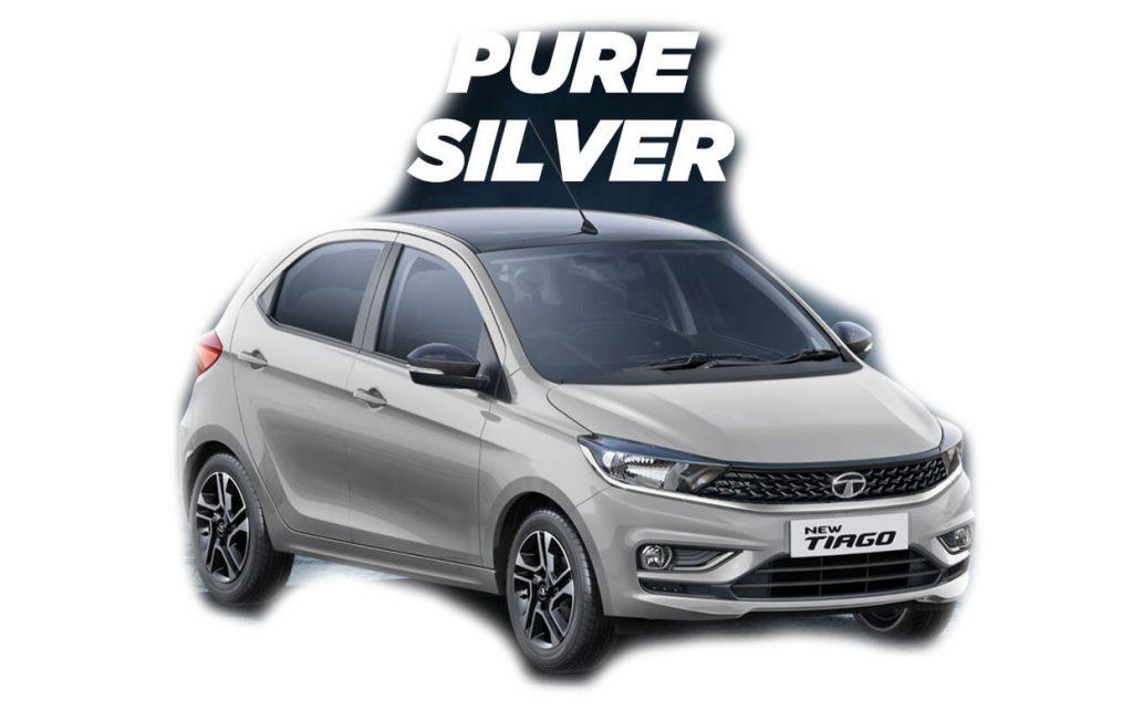 2020 Tata Tiago Silver Color - 2020 Tiago Pure Silver Color