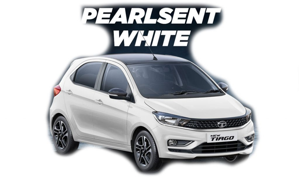 2020 Tata Tiago White Color - 2020 Tata Tiago Pearlescent White Color Option