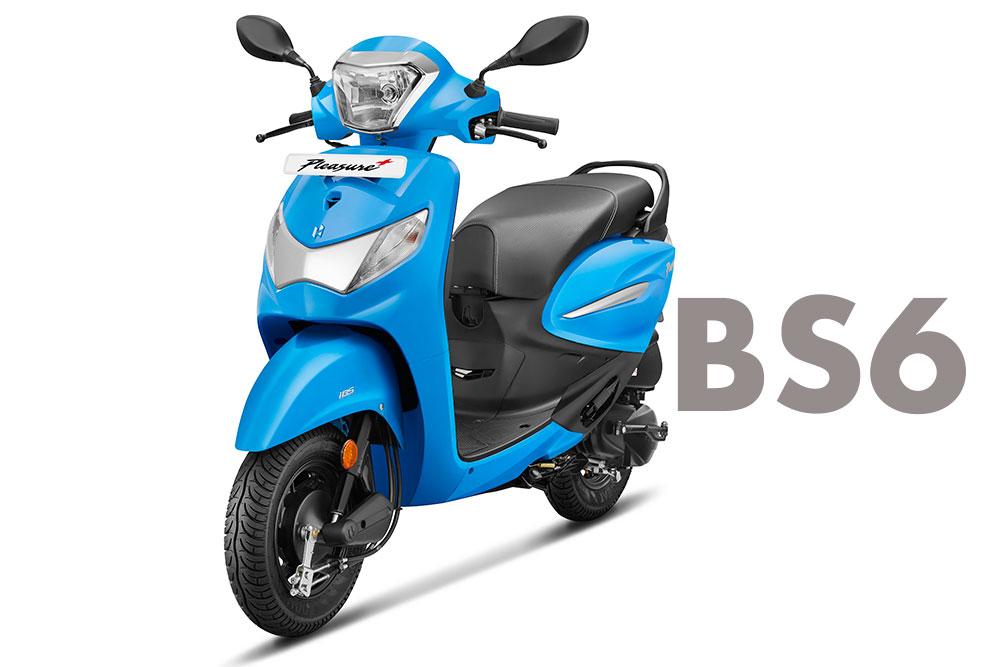 Hero Pleasure+ 110 scooter 2020 Model BS6 Variant