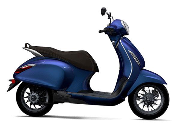 Bajaj Chetak Blue Color - Bajaj Chetak Indigo Metallic Blue Color option