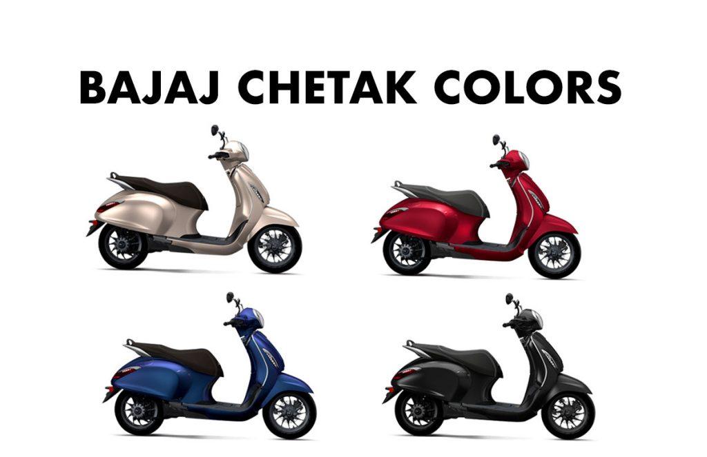 Bajaj Chetak Colors - 2020 Bajaj Chetak All Colors - Bajaj Chetak colours