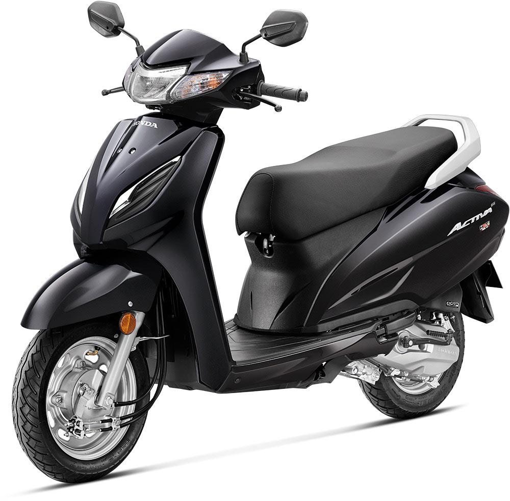 Honda Activa 6G Black Color Option - 2020 New Honda Activa 6G Black Color variant
