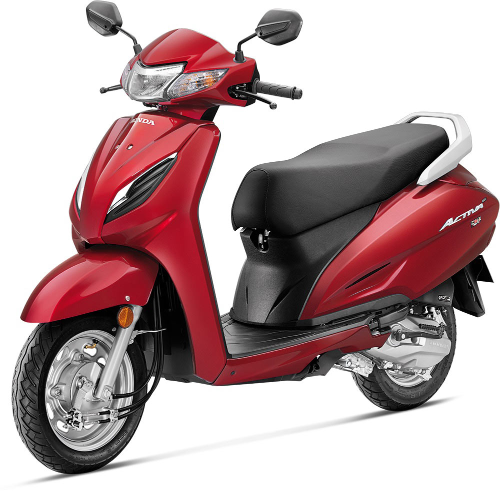Honda Activa 6G Red Color - New Honda Activa 6G Pearl Spartan Red Color variant