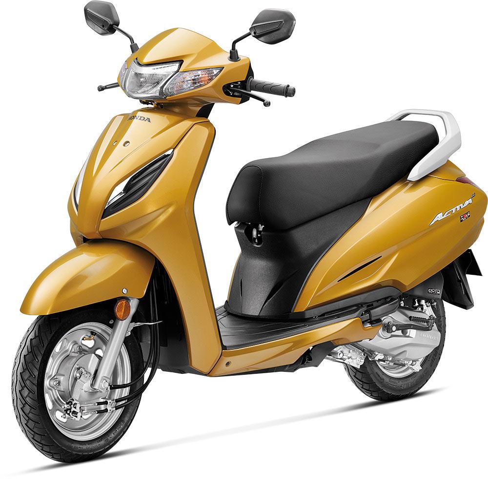 Honda Activa 6G Dazzle Yellow Metallic Color. New 2020 Honda Activa 6G Yellow Color option.