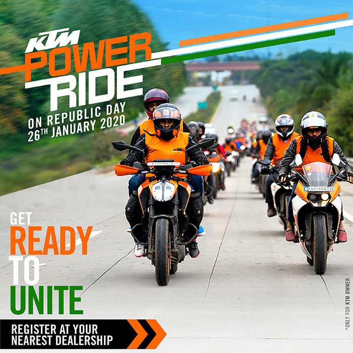 KTM Power Ride - Republic Day - 26 January 2020