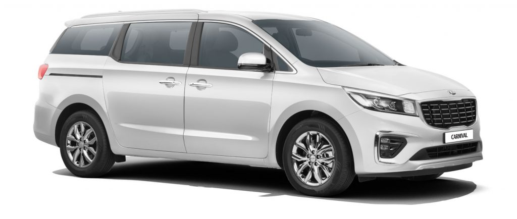Kia Carnival White Color - 2020 Kia Carnival Glacier White Color Option