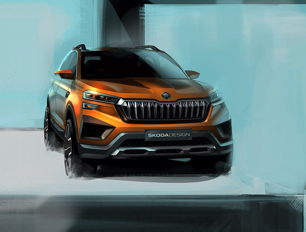 New Skoda SUV based on Vision IN concept - Premiere at Auto Expo 2020