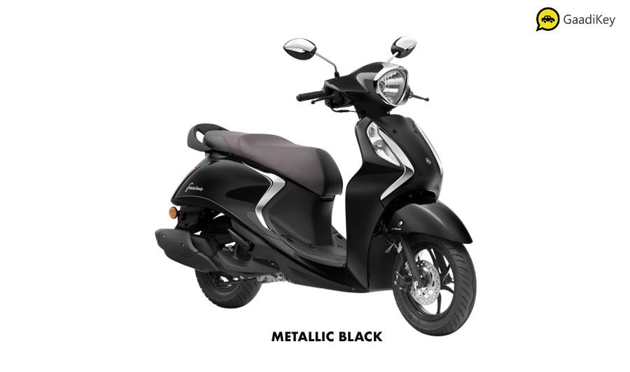 2020 Yamaha Fascino Black color option - New Fascino 2020 Metallic Black