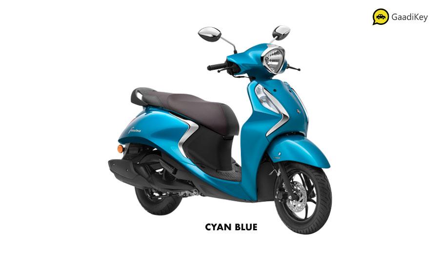 2020 Yamaha Fascino Blue Color Option - Cyan Blue Fascino 125cc