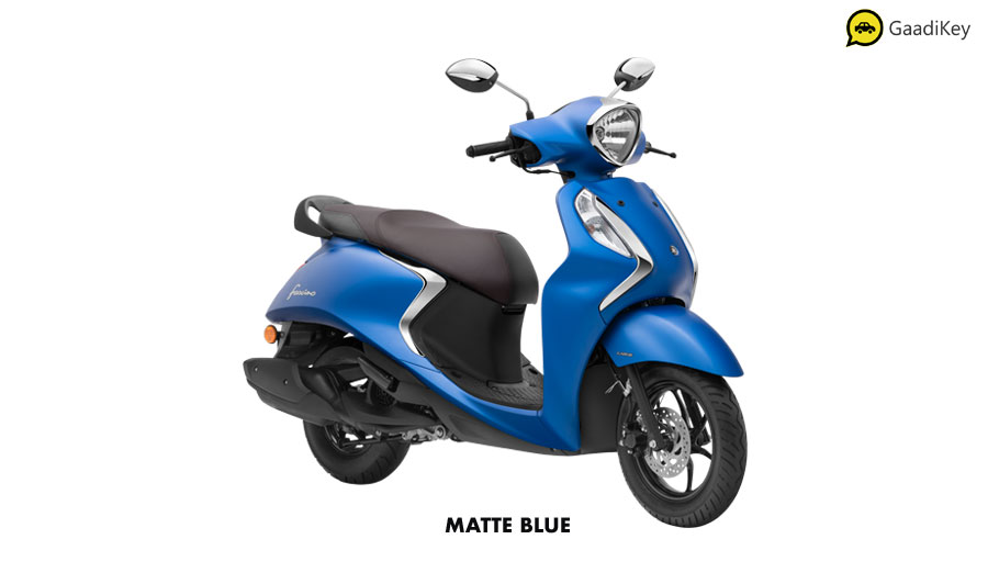 2020 Yamaha Fascino Matte Blue Color option - Fascino 125cc Matte Blue variant