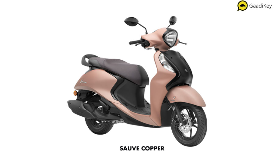 2020 Yamaha Fascino 125cc Copper Color variant. New Fascino 125cc FI in Brown color