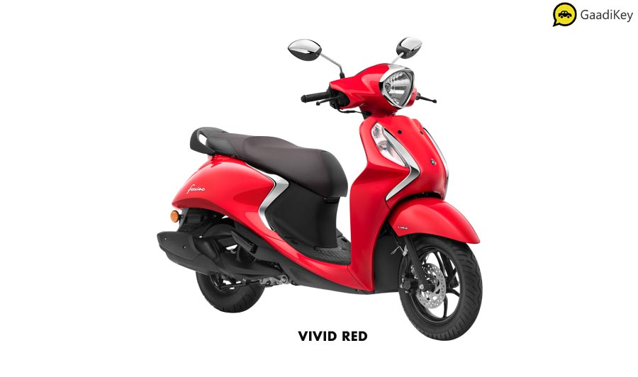 2020 Yamaha Fascino Red Color - New Fascino Vivid Red color 2020 model