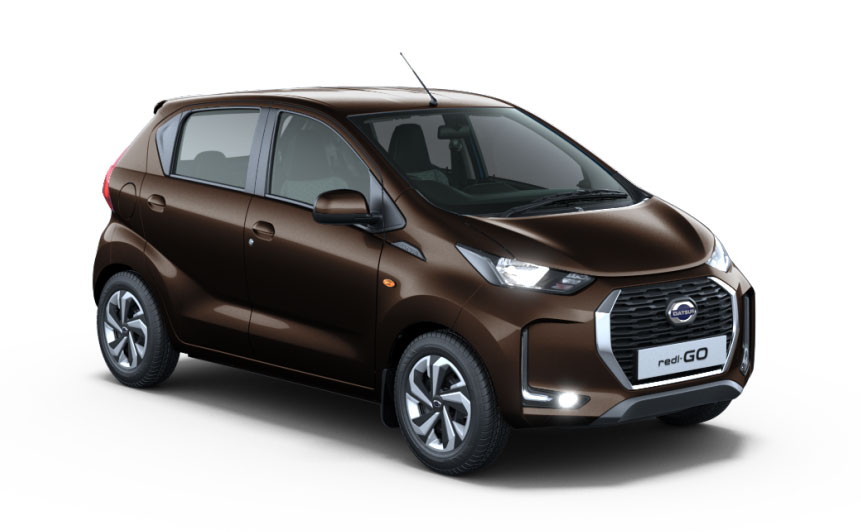 2020 Datsun Redigo brown color