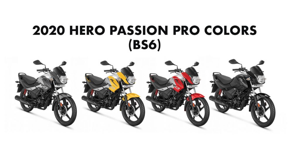 2020 model Hero Passion Pro Colors All Colors Passion BS6