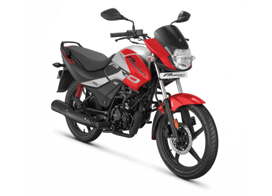 2020 Hero Passion Pro Red Color BS6 Model