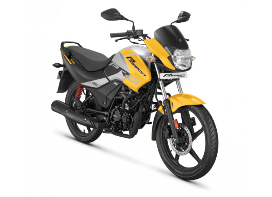 2020 Hero Passion Yellow Color BS6 model