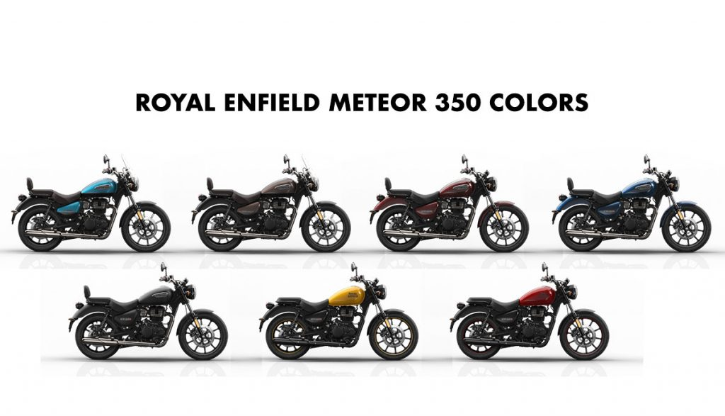 Royal Enfield Meteor 350 All Colors - RE Meteor All Color Options