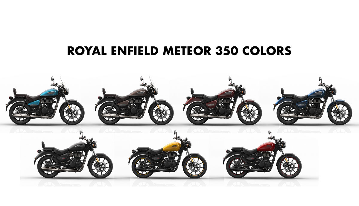 Royal Enfield Meteor 350 Colors Fireball Stellar Supernova Gaadikey