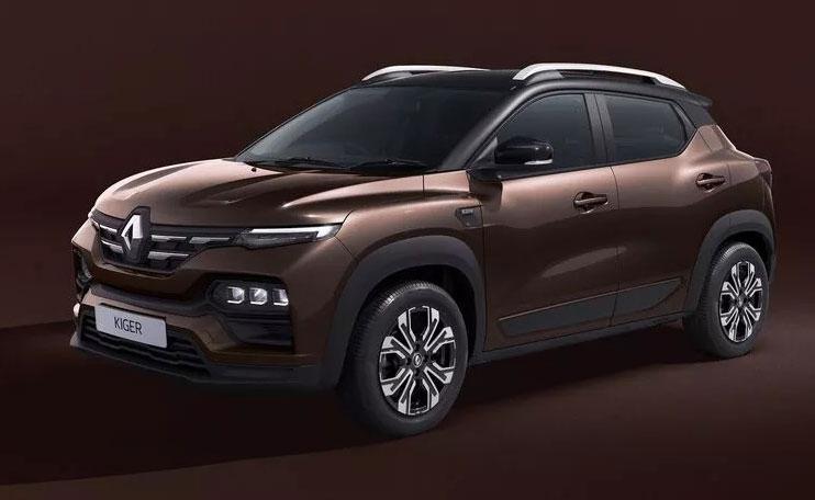 Renault Kiger Brown Color. Renault Kiger Mahogany Brown Color