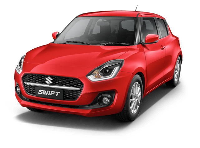 2021 Maruti Swift Solid Fire Red