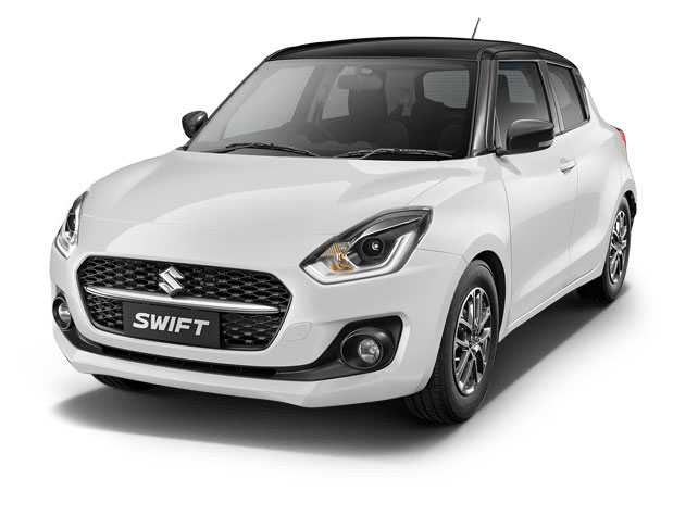 2021 Maruti Swift White with Black Roof