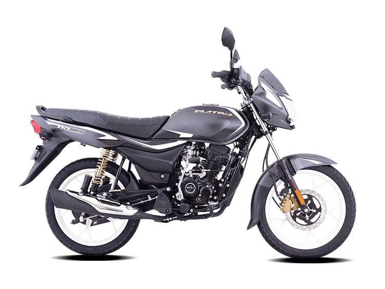 2021 Bajaj Platina Black Color (Charcoal Black) (Platina 110)