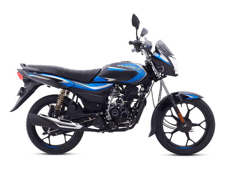 2021 Bajaj Platina Black and Blue Color (Ebony Black & Blue)  (Platina 110)