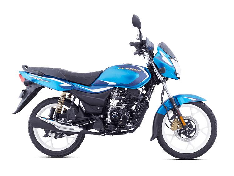 2021 Bajaj Platina Blue Color (Satin Beach Blue) (Platina 110)