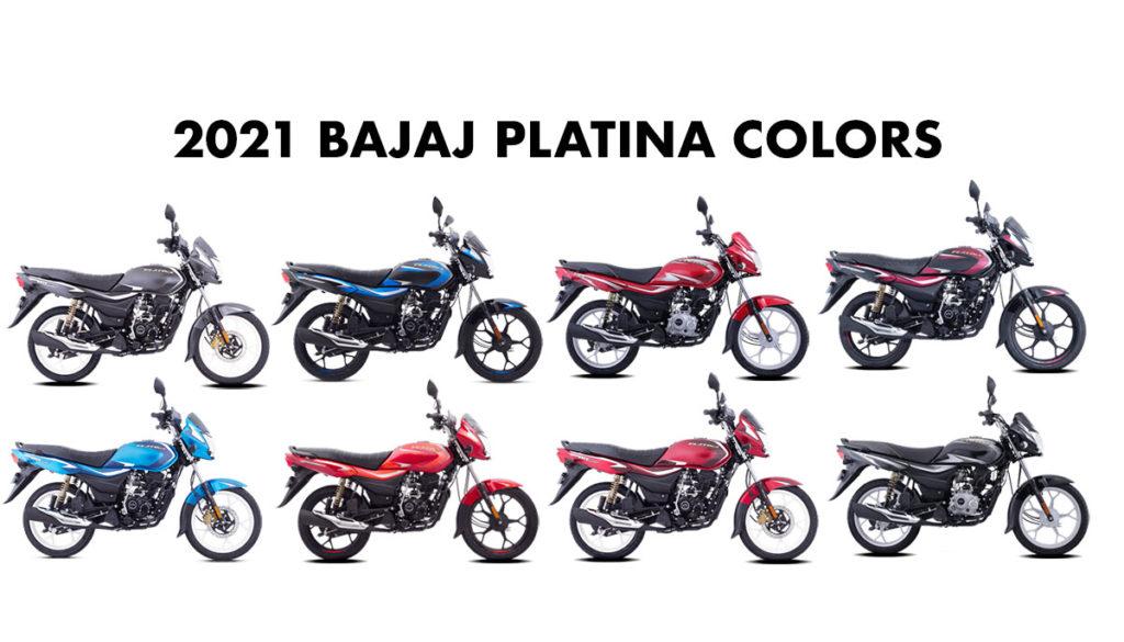 All New 2021 Bajaj Platina Colors - New Platina 2021 model color options