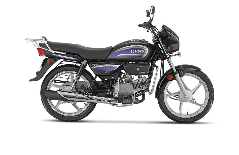 2021 Hero Splendor Purple Color - Black with Purple Color option