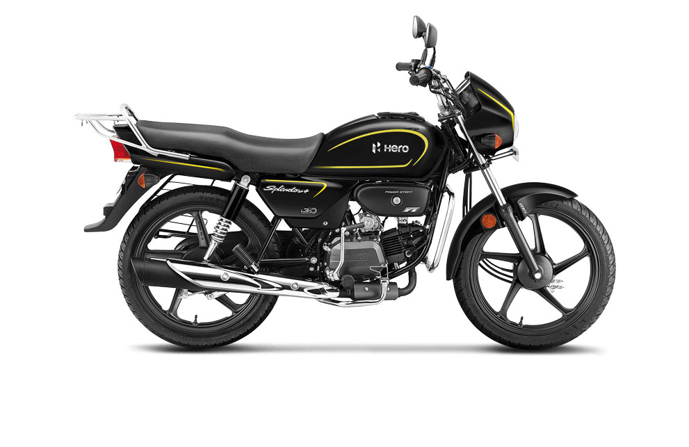 2021 Hero Splendor Yellow Color - Bumble Bee Yellow color option - Black Accent Edition