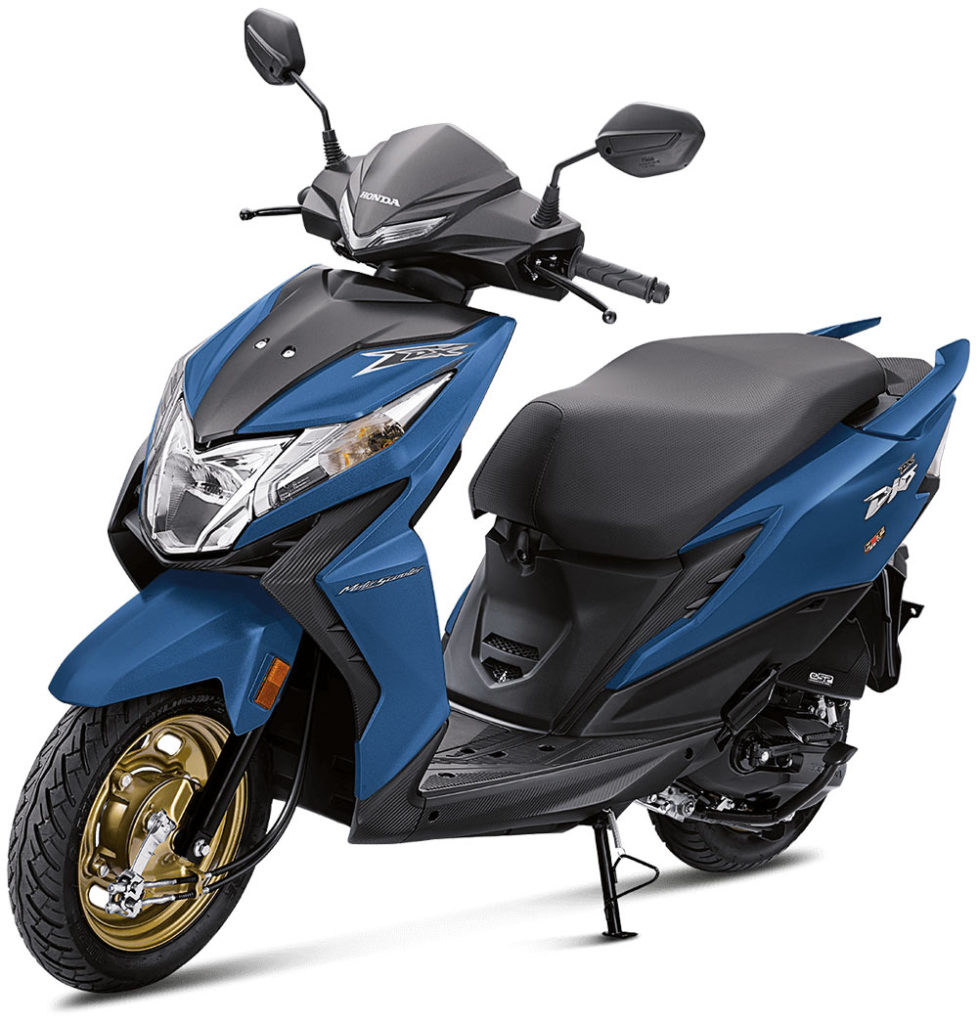 2021 Honda Dio Marvel Blue Metalic Color option - Deluxe variant