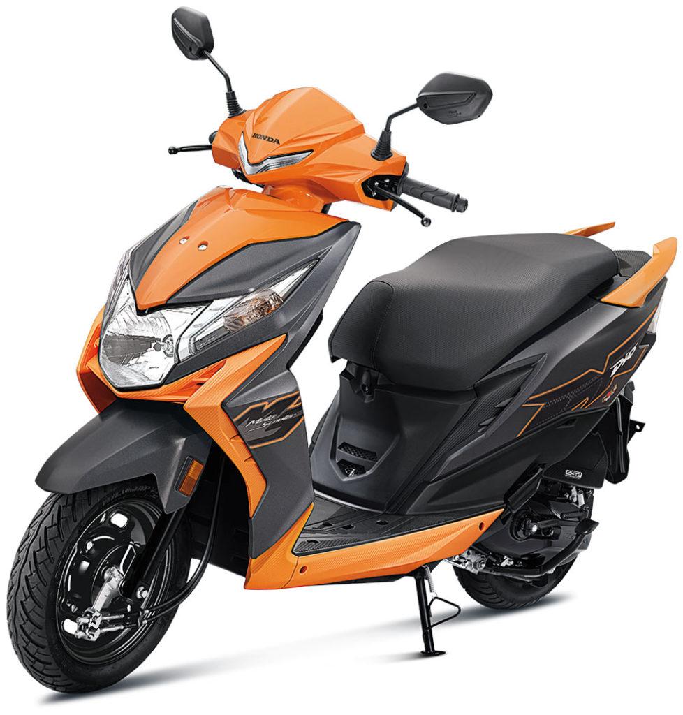 2021 Honda Dio orange Color Standard Option Vibrant Orange