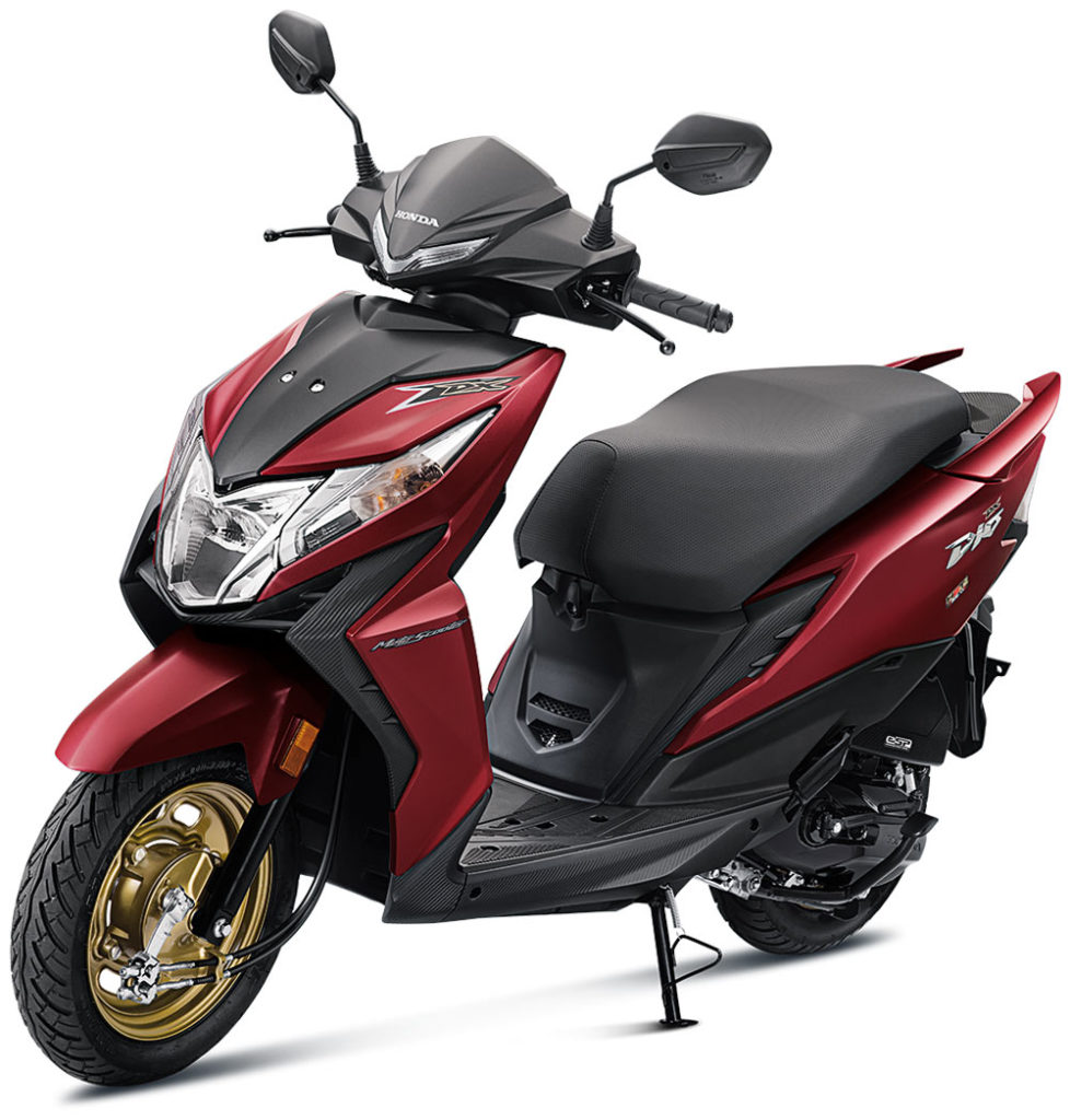 2021 Honda Dio Sangria Red Color Deluxe option