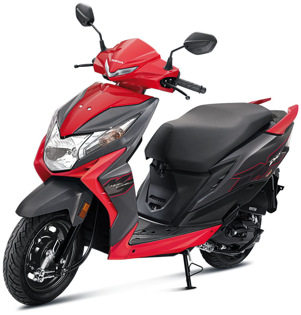 2021 Honda Dio Red Color Sports Red Standard Option