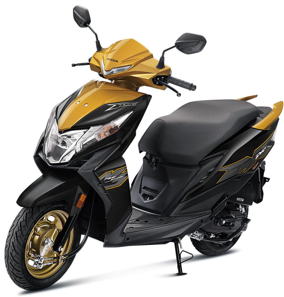 2021 Honda Dio Yellow Color option  - Dazzle Yellow Deluxe option